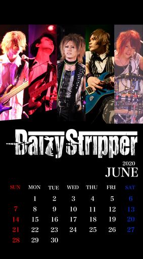 DaizyStripper待受カレンダー 2020.6