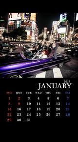DaizyStripper待受カレンダー 2017.01