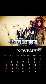 DaizyStripper待受カレンダー 2018.11